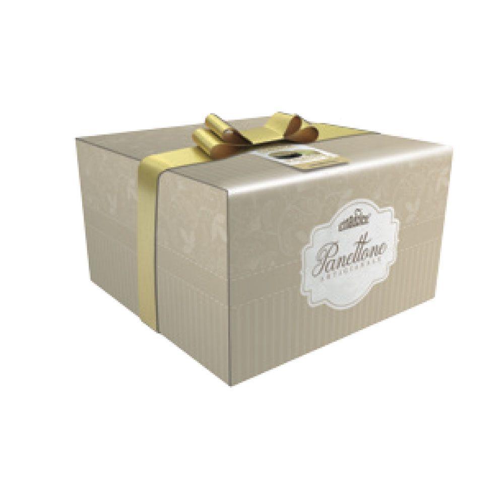 Panettone con crema all'amaretto scatola