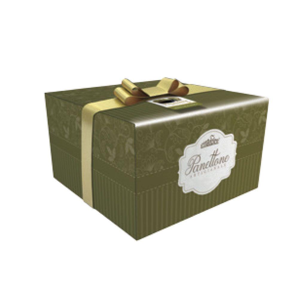 Panettone con crema di pistacchio scatola