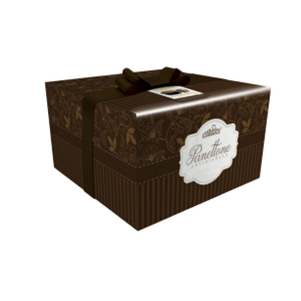 Panettone con crema gianduia scatola