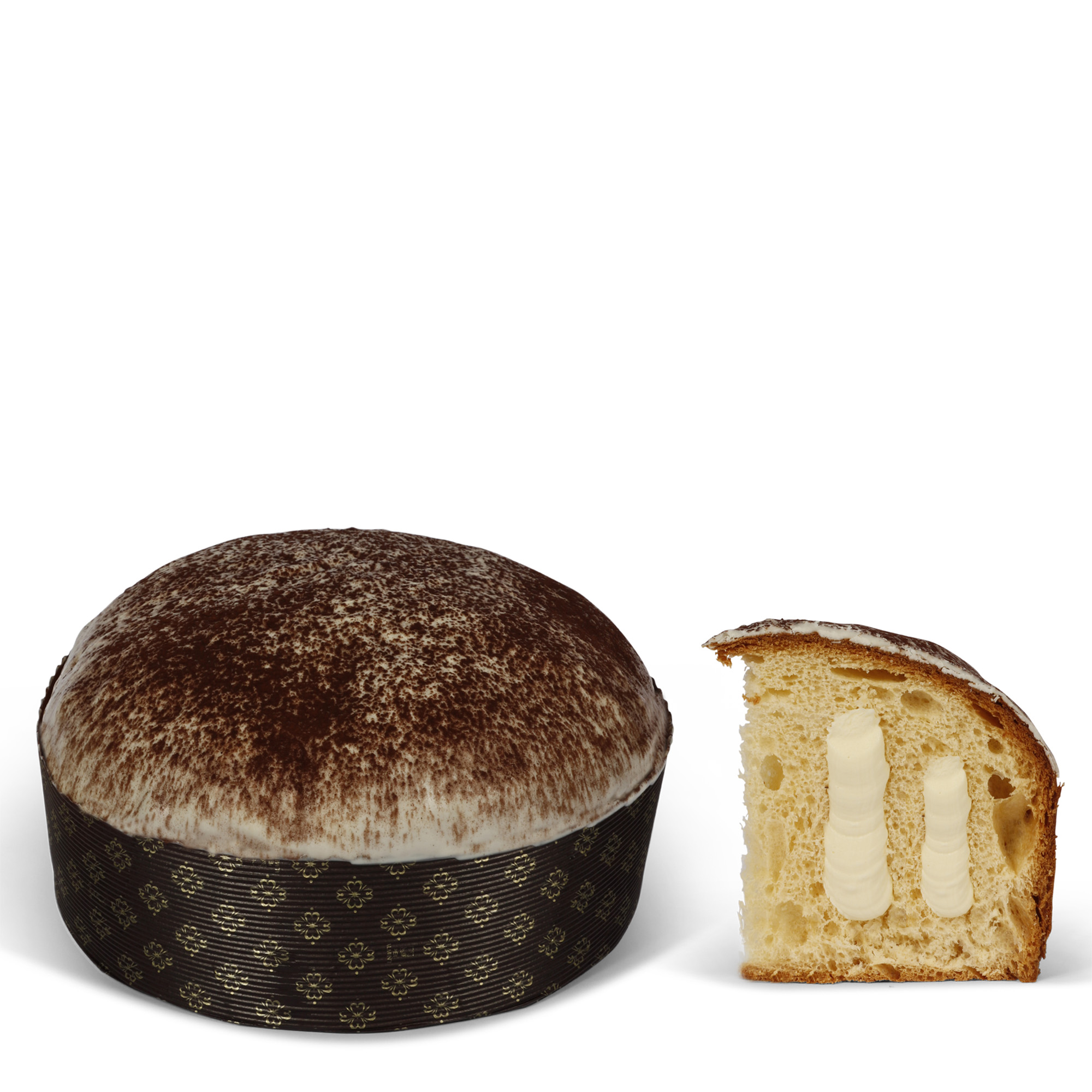 Panettone with tiramisù cream