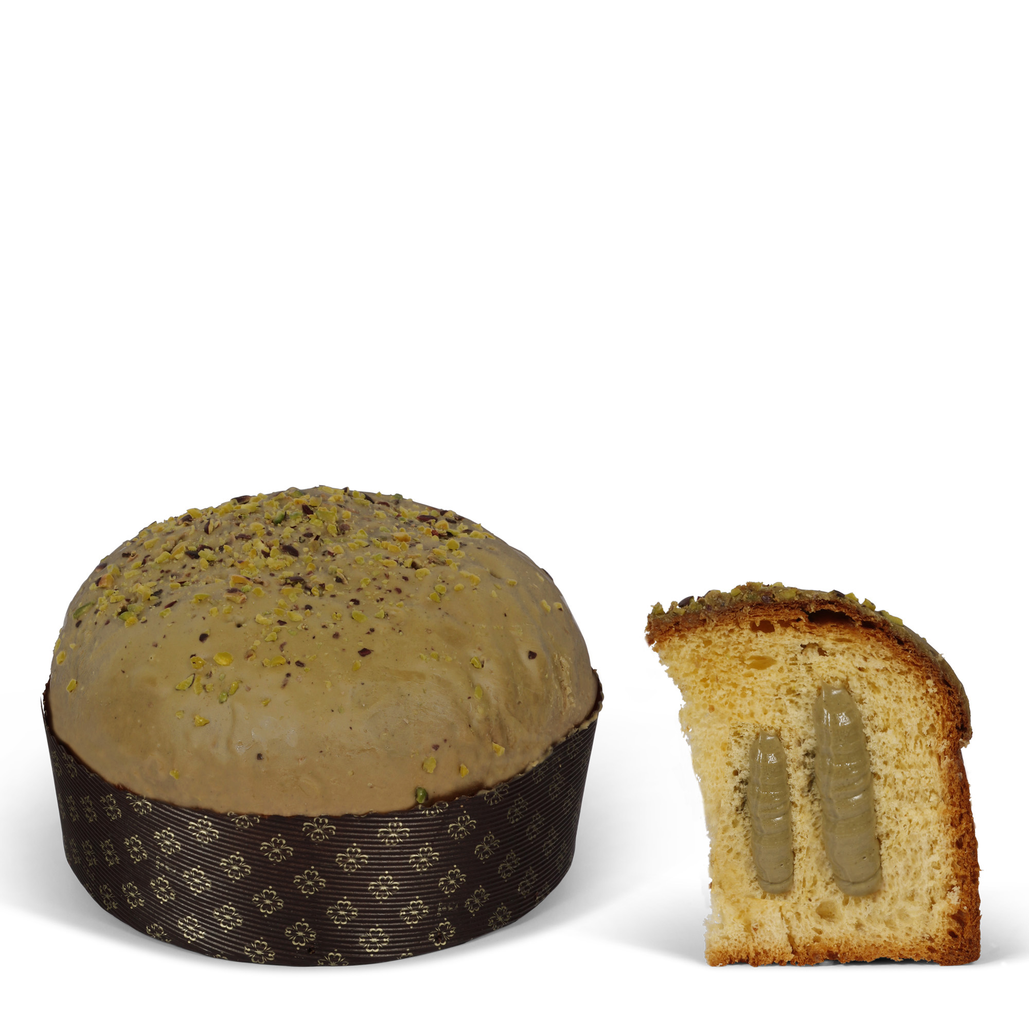panettone with pistacchio cream