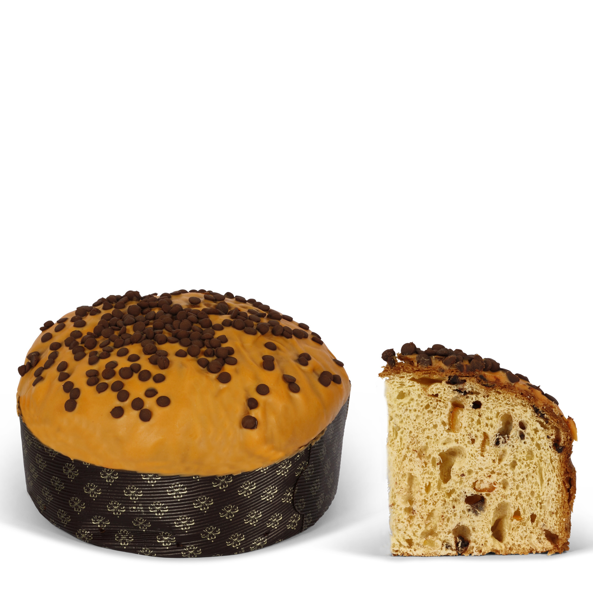 Panettone ornage and chocolate box
