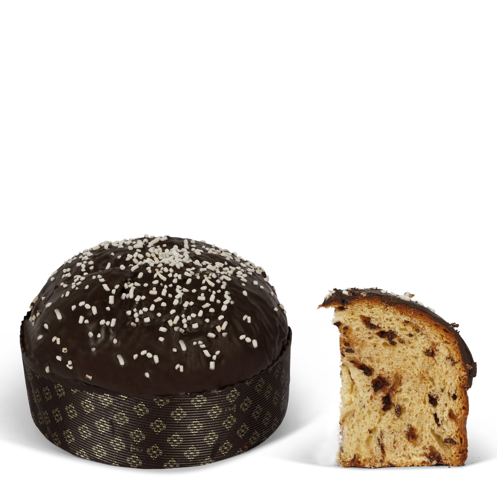 Panettone pear and chocolate wrap