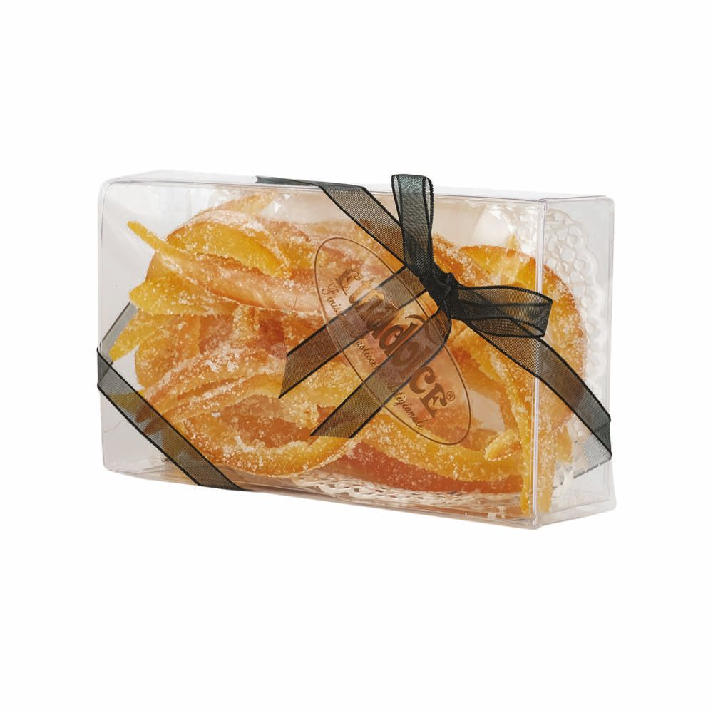 Orange and Lemon peel covered with sugar pvc box