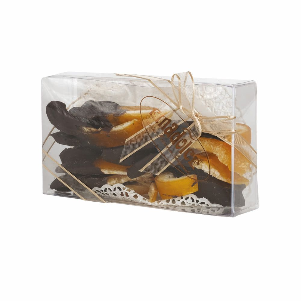 Orange and Lemon peel coverede with Chocolate pvc box