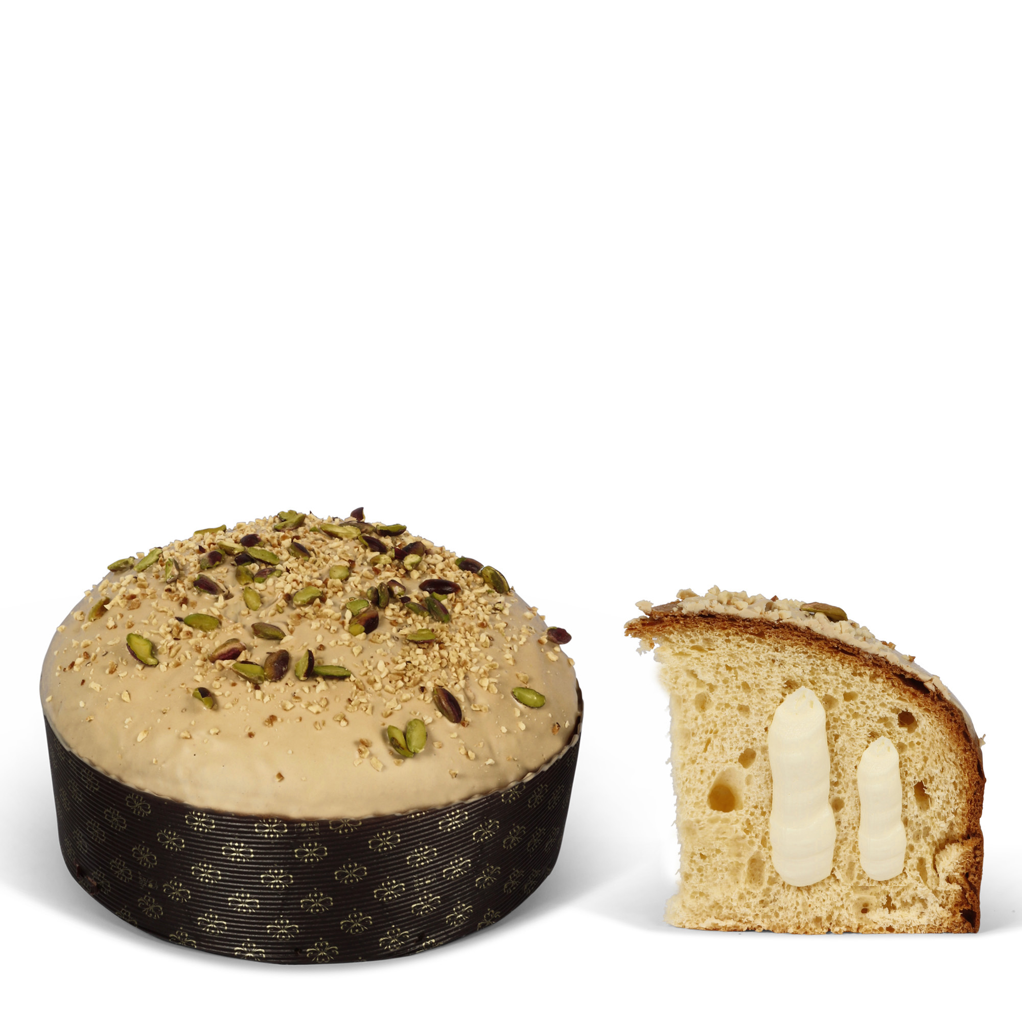 Panettone with hazelnut cream
