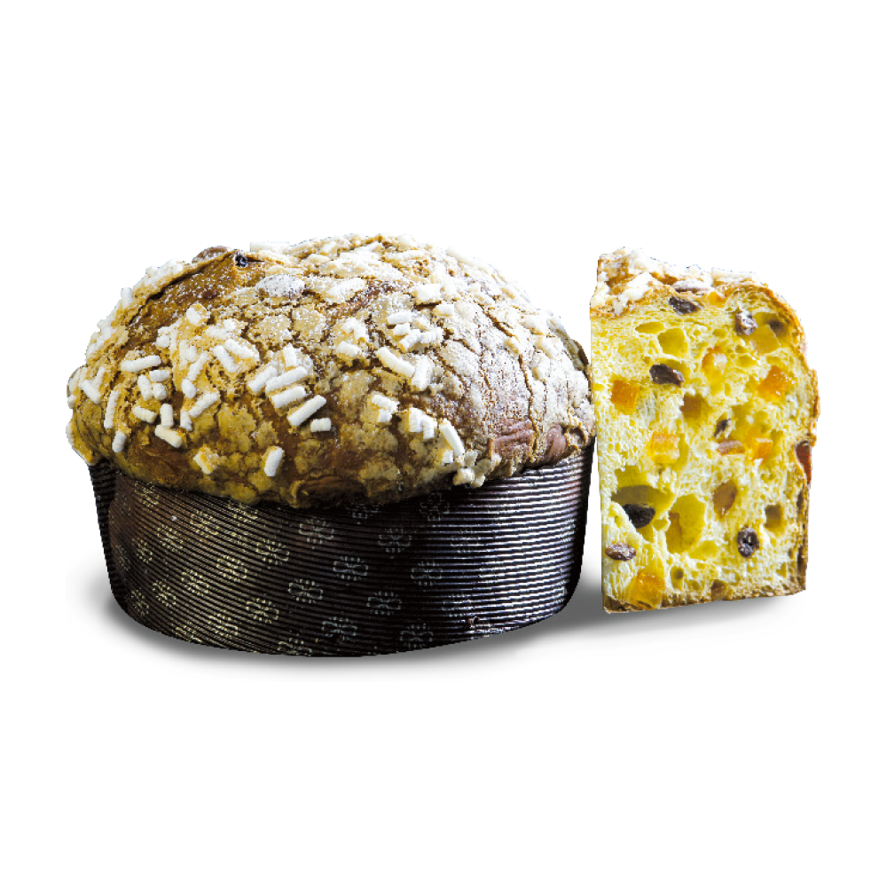 Panettone traditional with almonds